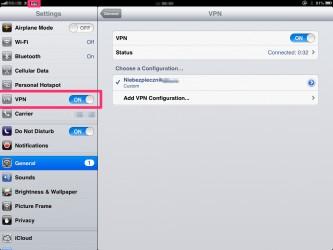 VPN na iPad