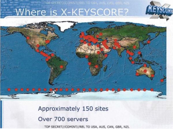 xkeyscore - lokalizacja serwerów