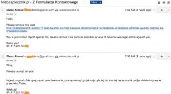 Ten e-mail od Ehraza Ahmeda miał nas chyba przestraszyć, nie przestraszył :)