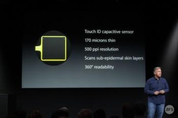 Slajd z prezentacji iPhone 5S