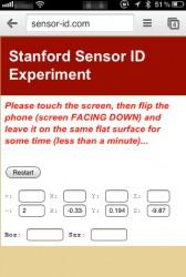 akcelerometr i fingerprinting