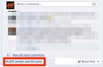 Zasięg przeciętnego posta na Facebooku Niebezpiecznika