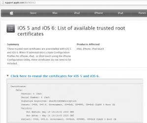 Podejrzany certyfikat w iOS