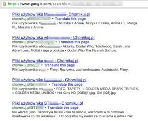 Przykład scrapingu danych użytkownika