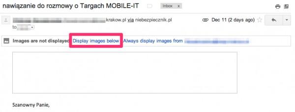 Gmail i obrazki