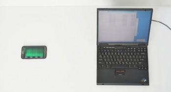 Telefon komórkowy wyposażony w aplikację do pozyskiwania klucza prywatnego RSA na podstawie dźwięków