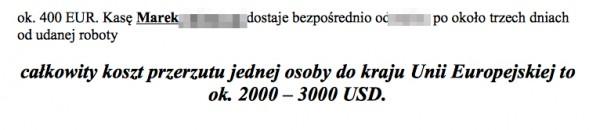 fragment dokumentu z analizą powiązań grupy przestępczej