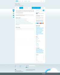 Skype Hacked - blog Skype opanowany przez SEA