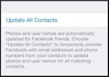 """Informacja o """"wykradzeniu"""" kontaktów przez Facebooka"""