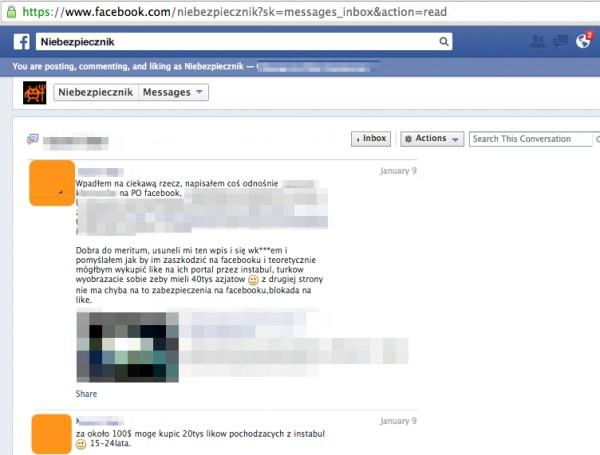 Czy to ten internauta podbił statystyki fanów Platformy Obywatelskiej na Facebooku?
