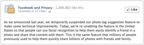 Facebook informuje o zawieszeniu rozpoznawania twarzy