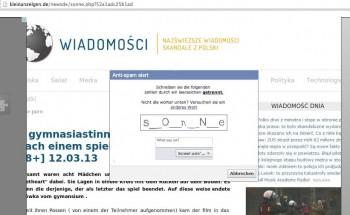 Strona ze scamem, która wykonywała atak likejacking na Fanpage Niebezpiecznika