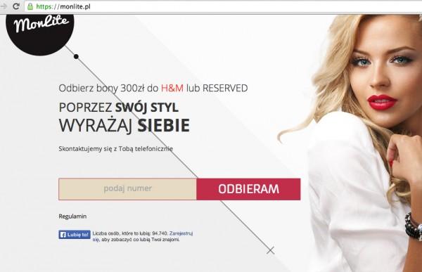 Strona dedykowana konkursowi - monlite.pl