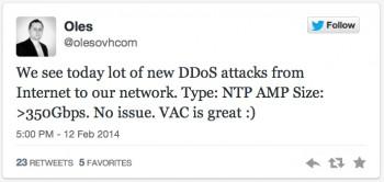 """Wypowiedź prezesa OVH ...o tyle zabawna, że serwerownia ta jest celem a jednocześnie serwery w niej ulokowane są """"wzmacniaczami"""" tego ataku..."""