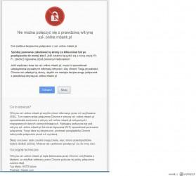 Błąd HSTS nie pozwolił Chrome załądować podstawionej przez atakujących strony mBanku