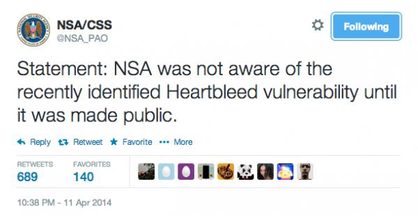 NSA zaprzecza, że wiedziało o Heartbleed