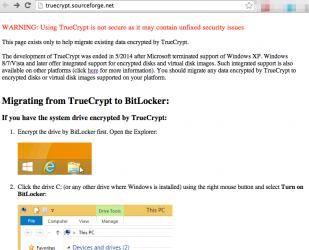 TrueCrypt zakończony?