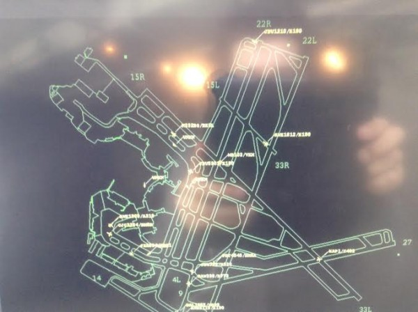 Widok kontrolera lotów