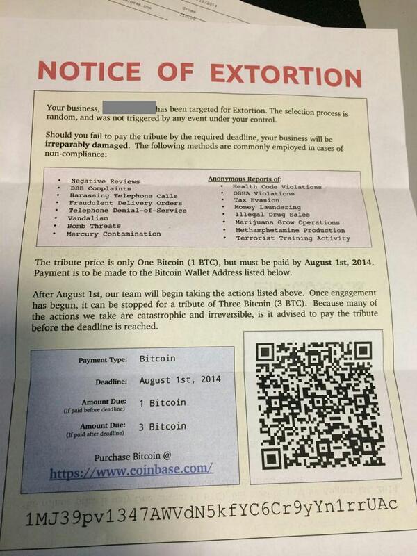 Bitcoinowy szantaż