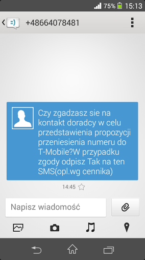 Spam od T-Mobile