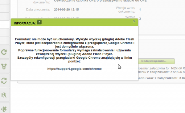 ZUS nie lubi Flasha od Google Chrome