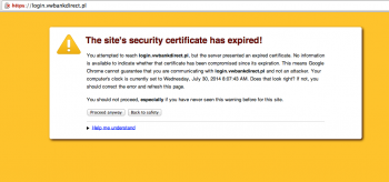 Volkswagen bank i błąd SSL
