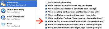 Opcja w Apple Configuratorze odpowiedzialna za parowanie