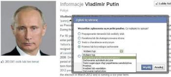 Jak usunąć stronę Putina? Zgłosić ją kilkaset razy - resztę zrobią algorytmy Facebooka
