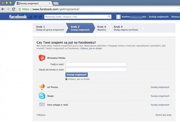 Wejście na cudzą sesją na Facebooku