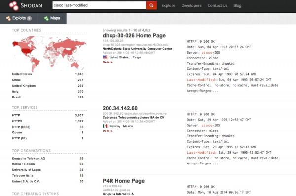 Wyszukiwanie niezabezpieczonych routerów Cisco w Shodanie