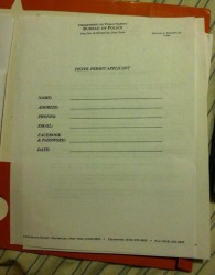 Aplikacja o pozwolenie na broń - Nowojorska policja prosi o podanie hasła do Facebooka...