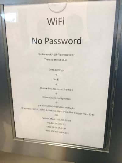 Instrukcja obsługi sieci Wi-Fi w krakowskim hotelu Best Western