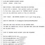 Dropbox hacked - wpis na Pastebin