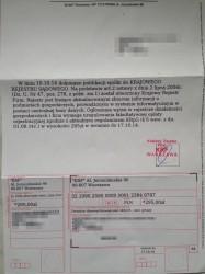 """Treśćpisma od KRF powołująca się na wpis do KRF i żądająca """"fakultatwnej"""" opłaty"""