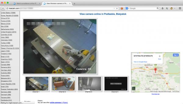 Przykładowy obraz z kamery z Białegostoku