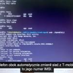 """Sieć GSM """"cierkawskiego"""" z podpiętym testowym telefonem (widać numer IMSI)"""