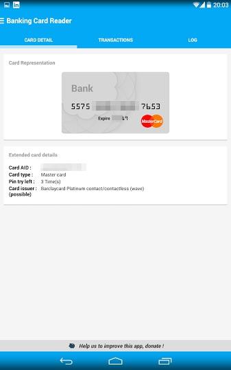 karta mBanku - poprawnie zczytane dane