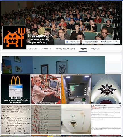 Nasz Fanpage z dołączonym przez Facebooka zdjęciem jakiegośużytkownika
