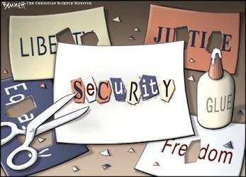 Doktryna zauważa również, że wdrożenie niektórych systemów bezpieczeństwa i kontroli może nie spotkać się z przychylnością obywateli z racji naruszania ich prawa do prywatności.