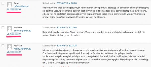 Podgląd kosza z komentarzami na Niebezpiecznik.pl