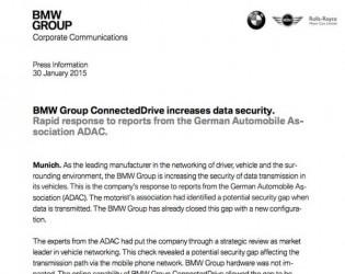 Oświadczenie BMW