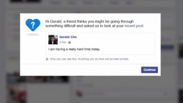 Komunikat pokazujący się osobie, której post został zaflagowany jako zawierający myśli samobójcze