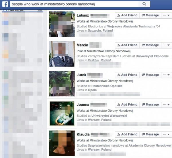 Facebook zwraca dane setek pracowników Ministerstwa Obrony Narodowej