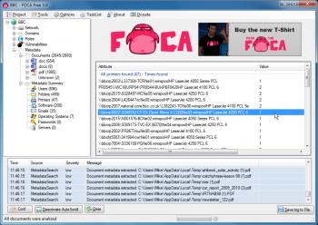 Foca w akcji - odszukuje i analizuje także metadane dla innych dokumentów, m.in. Office