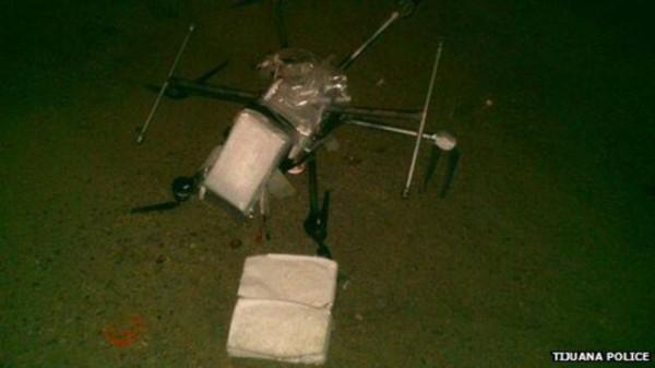 Dron szmuglujący narkotyki