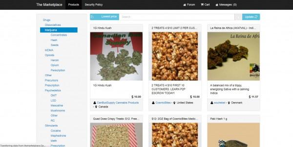 Oferty sprzedaży marihuany na Silk Road