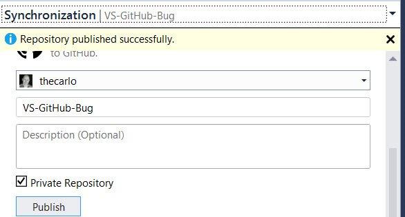 Tworzenie repozytorium prywatnego na GitHubie za pomocą Visual Studio