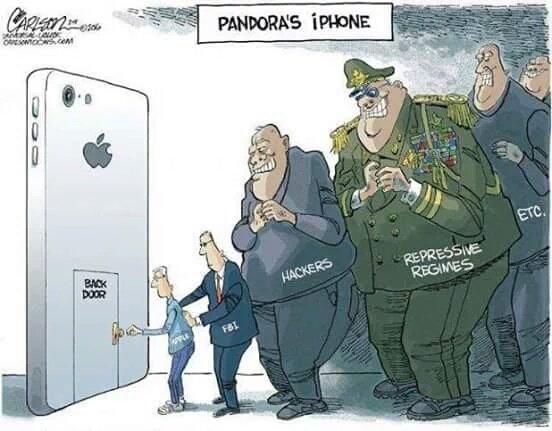 """Trafne zobrazowanie tego co nastąpi, po tym jak Apple stworzy backdoora """"tylko dla FBI"""""""