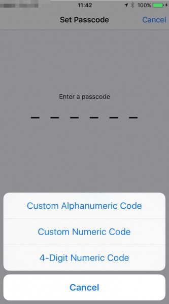 Konfiguracja passcode, czyli kodu blokady ekranu