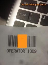Kod serwisowy operatora kasy samoobsługowej w Tesco